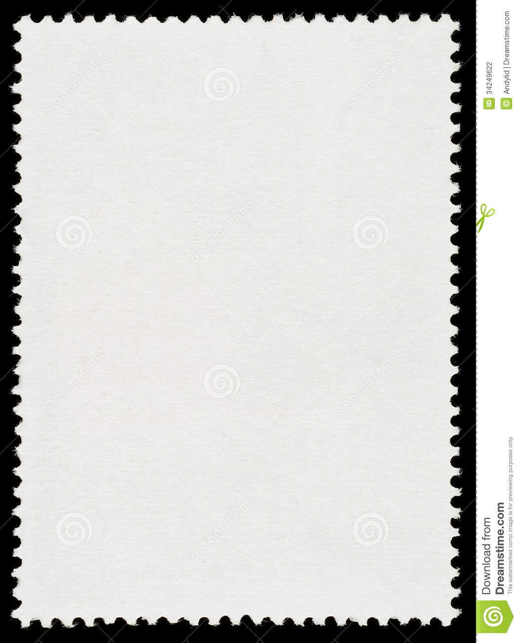Blank Postage Stamp Stock Photography   Image  34249622