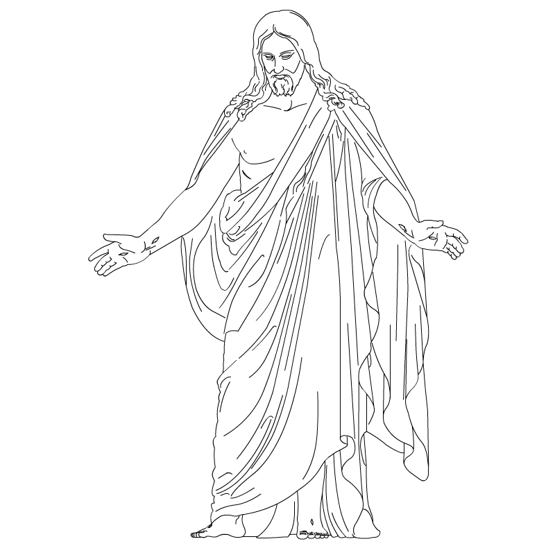 Christus   Resurrected Lord And Savior   Lds Clip Art