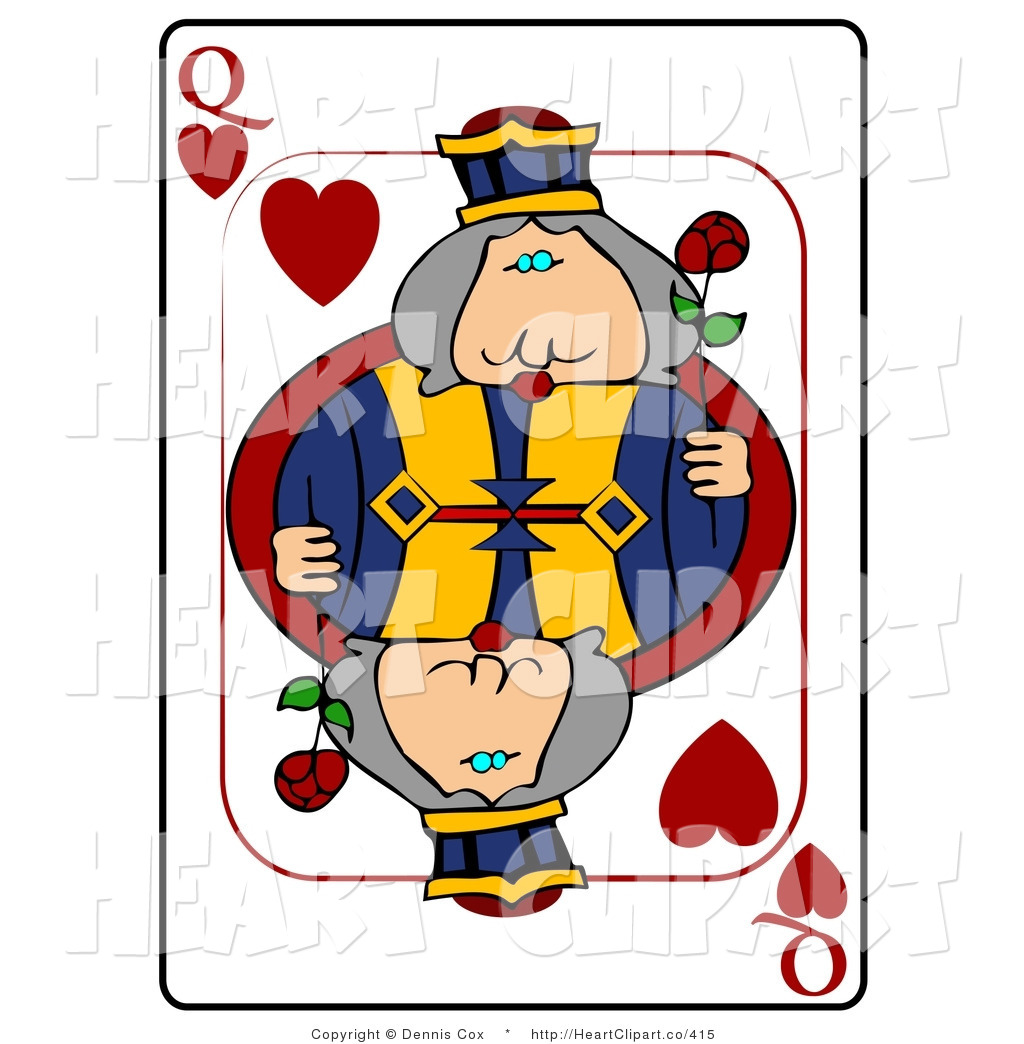 Clip Art Of A Queen Of Hearts Playing Card By Djart    415