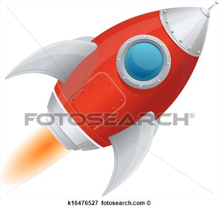 Clip Art Of Comic Cartoon Rocket Space Ship K16476527   Search Clipart