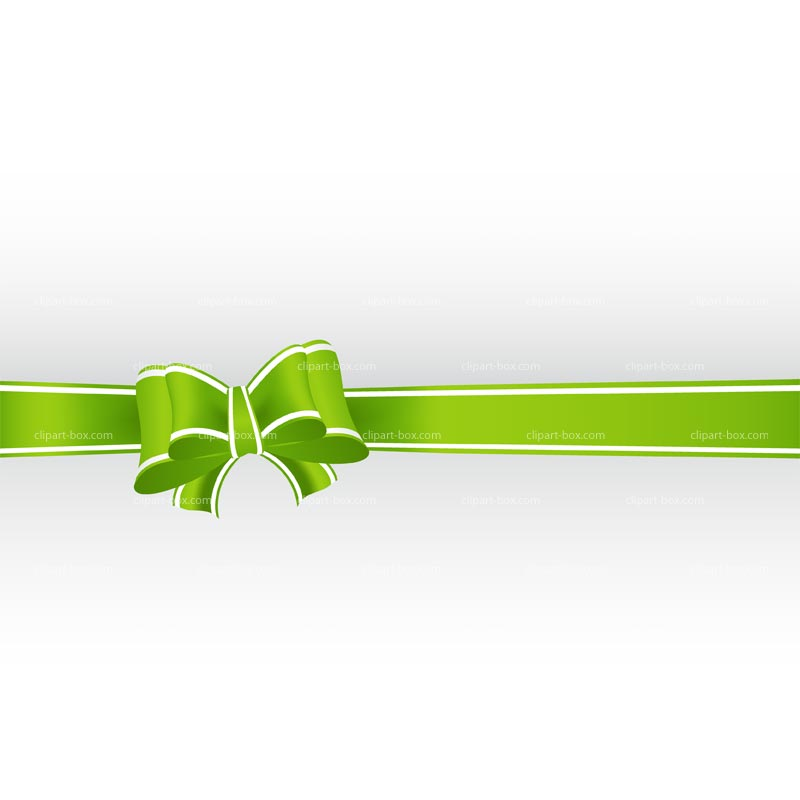 Clipart Green Ribbon Background   Royalty Free Vector Design