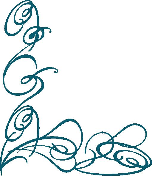 Decorative Swirl Dark Teal Clip Art At Clker Com   Vector Clip Art