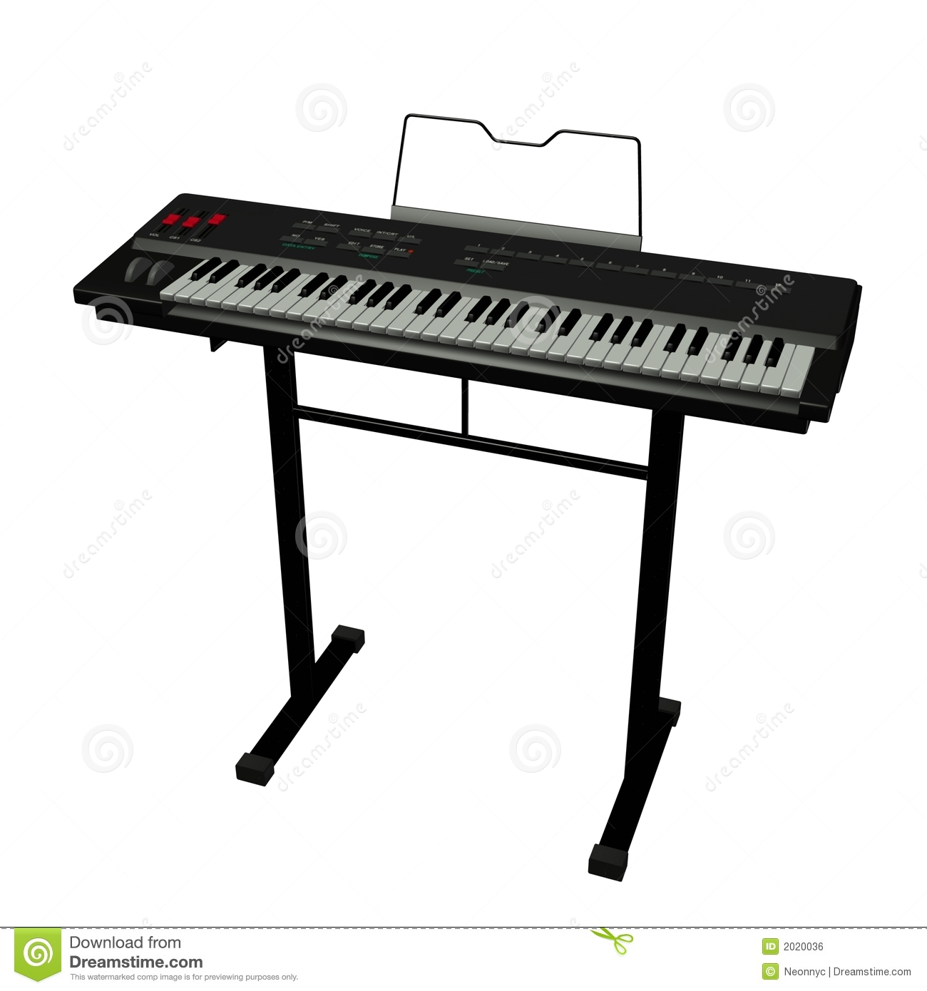 Electronic Keyboard Clipart - Clipart Kid
