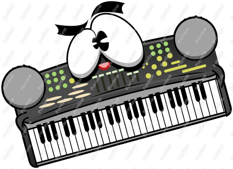 Electronic Keyboard Clipart - Clipart Suggest