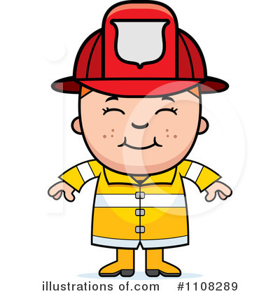 Firefighter Clipart  1108289 By Cory Thoman   Royalty Free  Rf  Stock