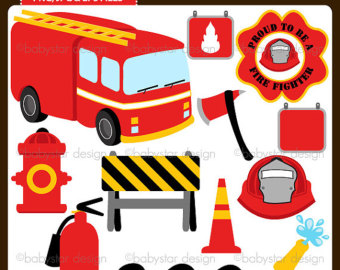Firefighter Clipart Instant Downloa D