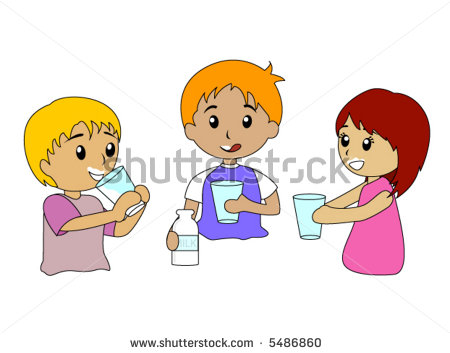 Girl Drinking Water Clip Art