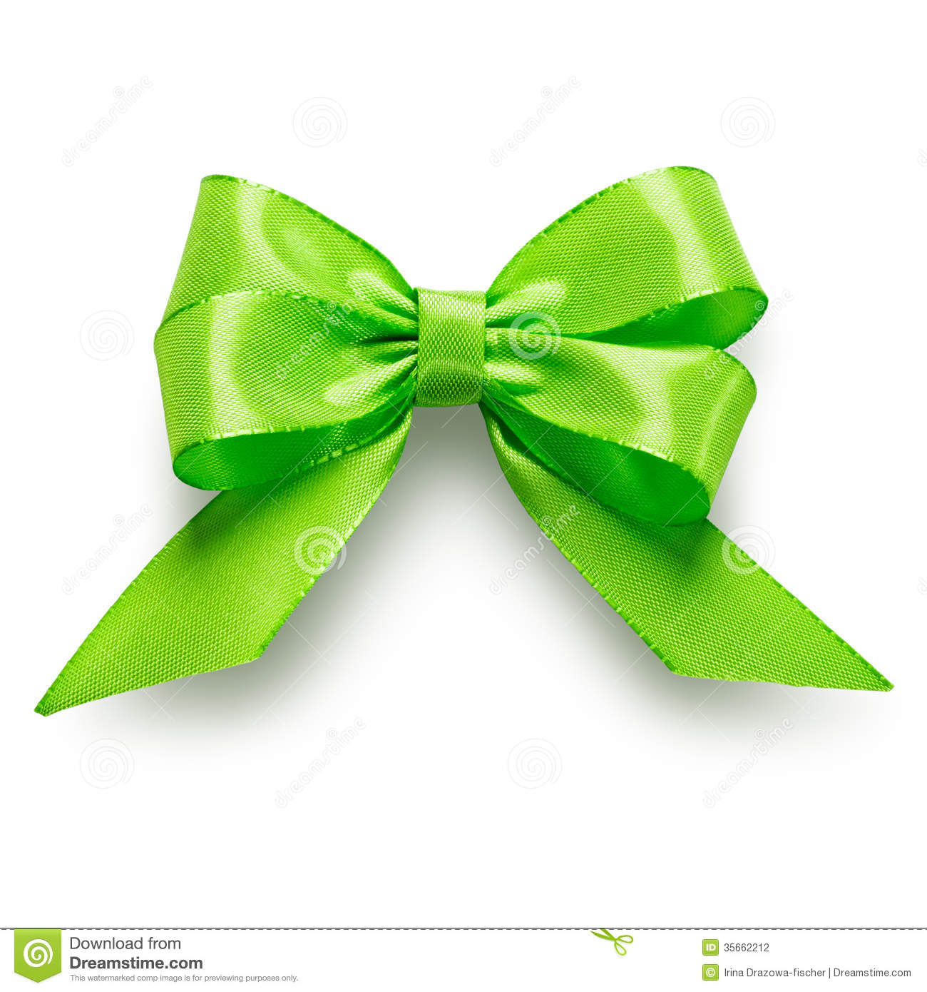 Green Bow Stock Photography   Image  35662212