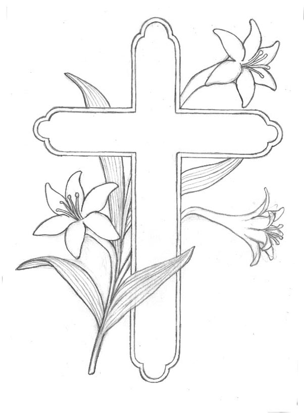 Easter Flower Cross Clipart - Clipart Kid