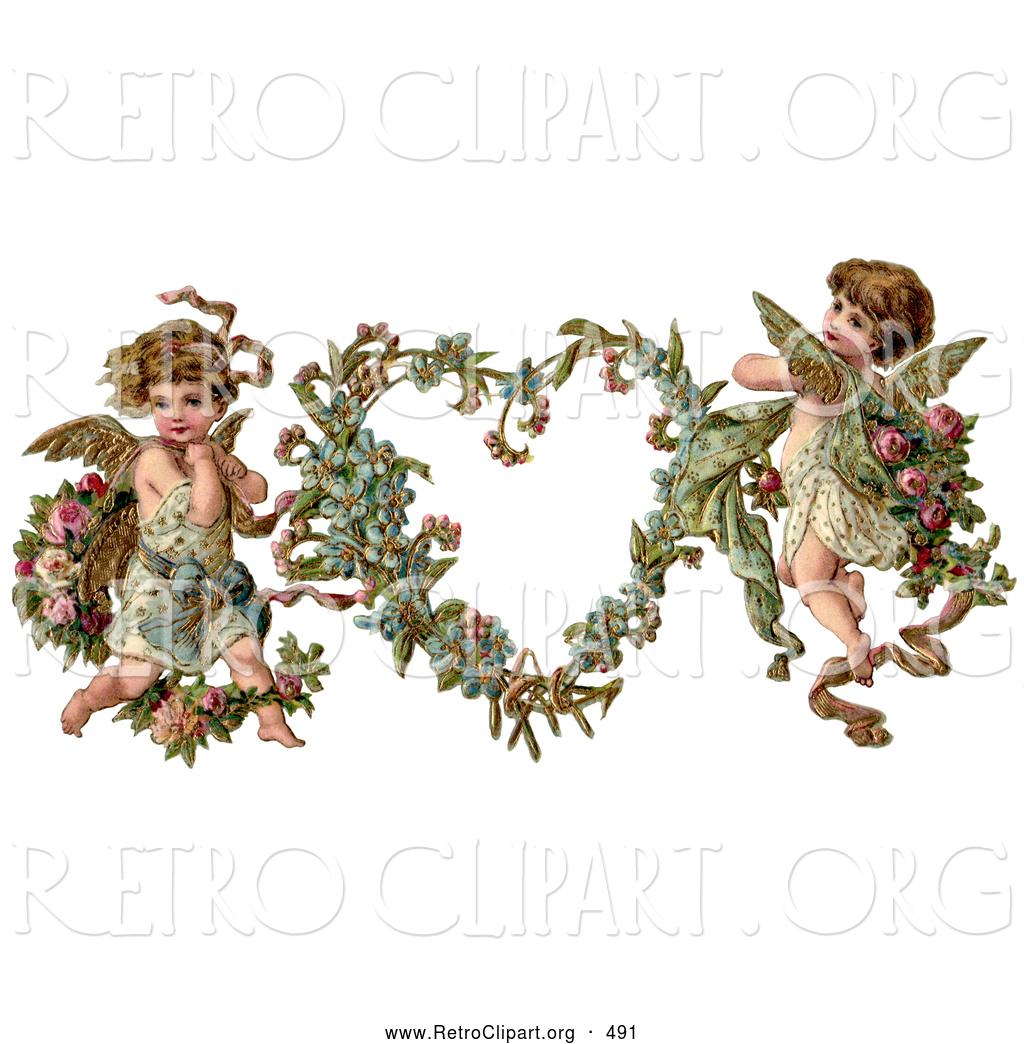 Larger Preview  Retro Clipart Of A Old Fashioned Vintage Valentine Of