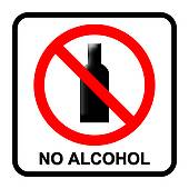 No Alcohol Sign Stock Illustrations   Gograph