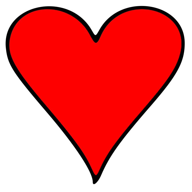 Heart Playing Cards Clipart - Clipart Suggest