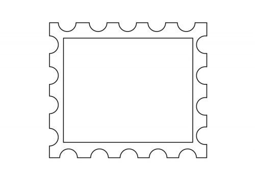 Printable Postage Stamp Template   Free Cliparts That You Can