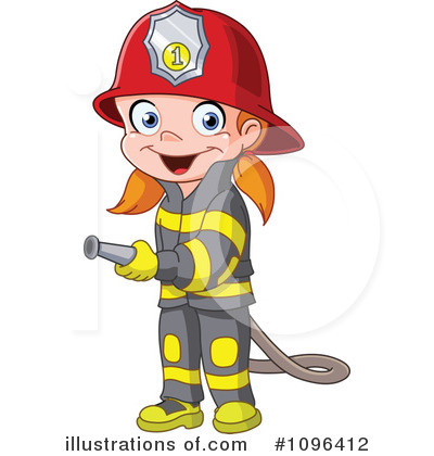 Royalty Free  Rf  Fire Fighter Clipart Illustration By Yayayoyo