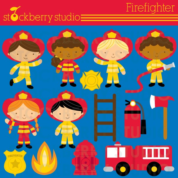 Stockberry Studio  Little Heroes Clipart
