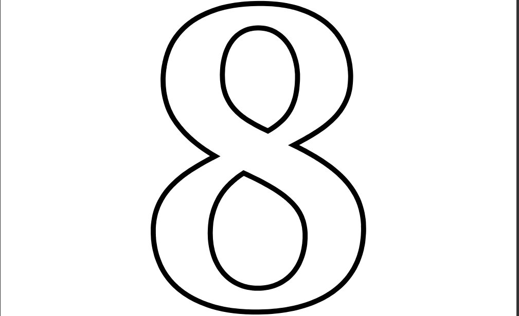 To Print   Numbers And Shapes   All Numbers   Number 8       Clipart