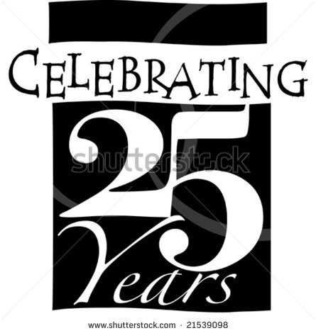 25th Anniversary Clip Art Business