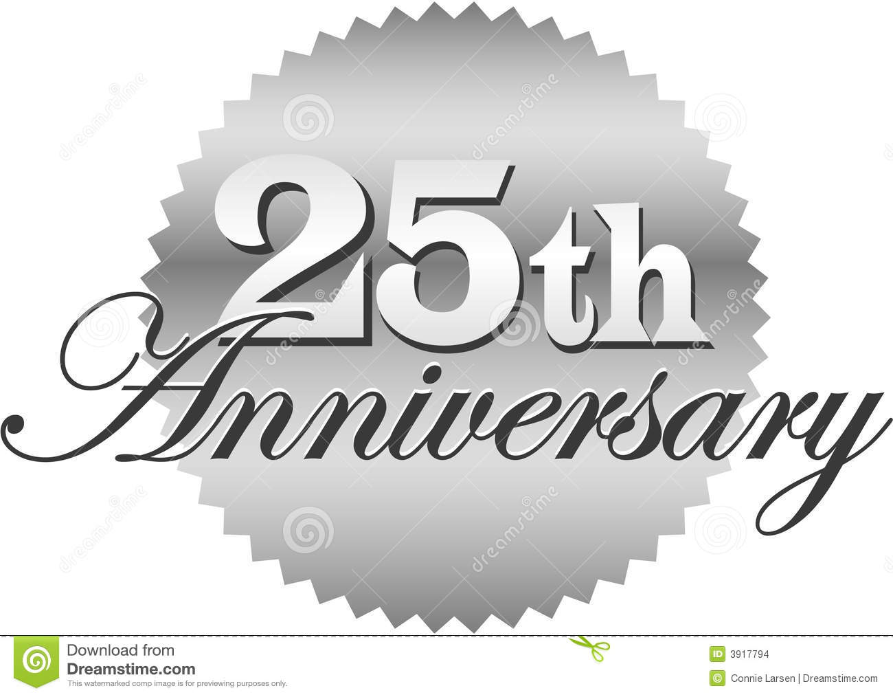 25th Anniversary Seal Eps Stock Images   Image  3917794