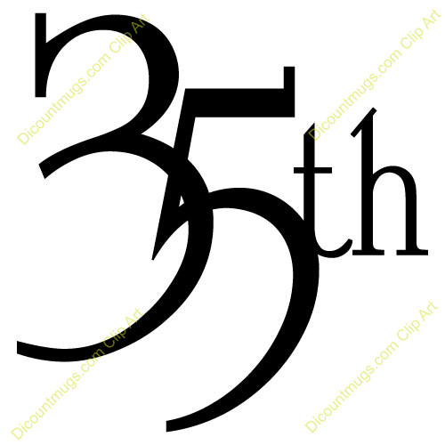 25th Work Anniversary Clipart