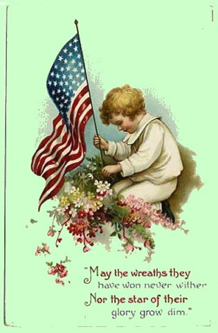 Archive   Free Vintage Memorial Day And Veterans Day Greeting Cards
