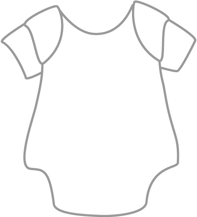 Baby Items Black And White Clipart - Clipart Kid