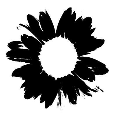 Black And White Abstract Daisy Mixed Media At Artistrising