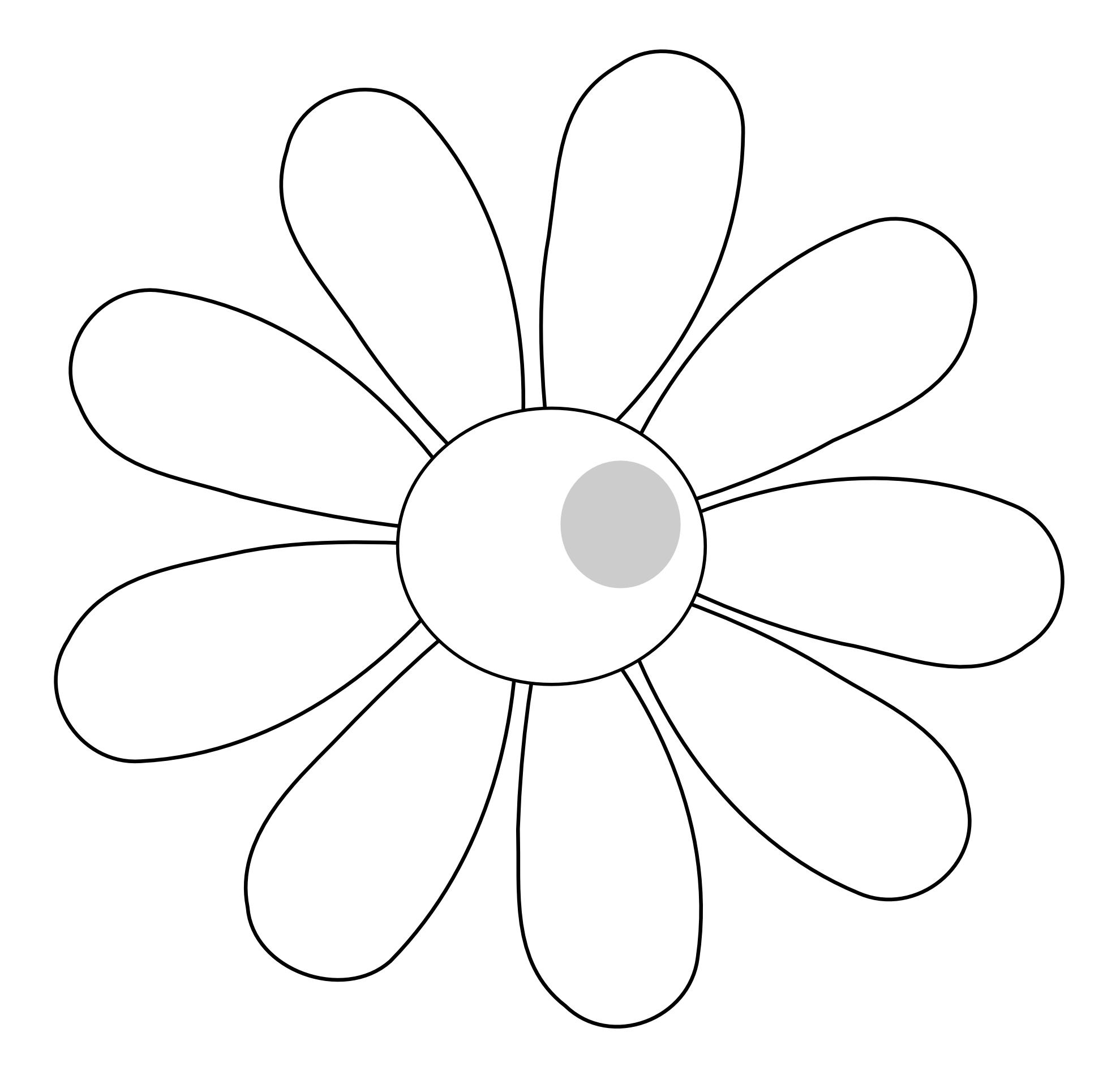 Black And White Daisy Clipart   Clipart Panda   Free Clipart Images