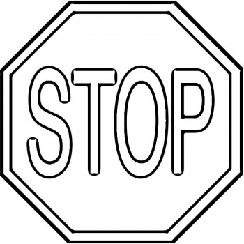 Black And White Stop Sign Clipart   Clipart Panda   Free Clipart