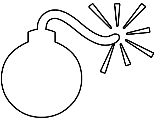 Bomb Outline Clip Art At Clker Com   Vector Clip Art Online Royalty