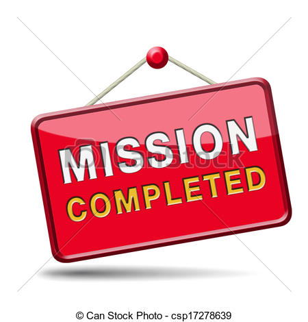 Completed Mission Or Task Accomplished Csp17278639   Search Clipart