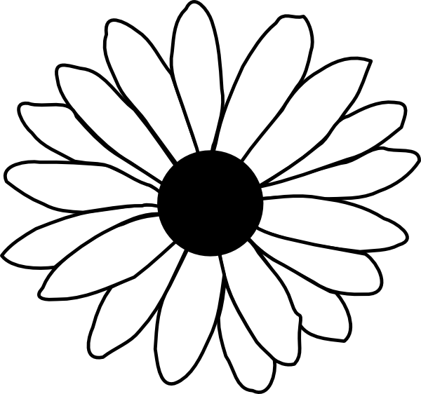 free black and white clip art sunflowers - photo #19