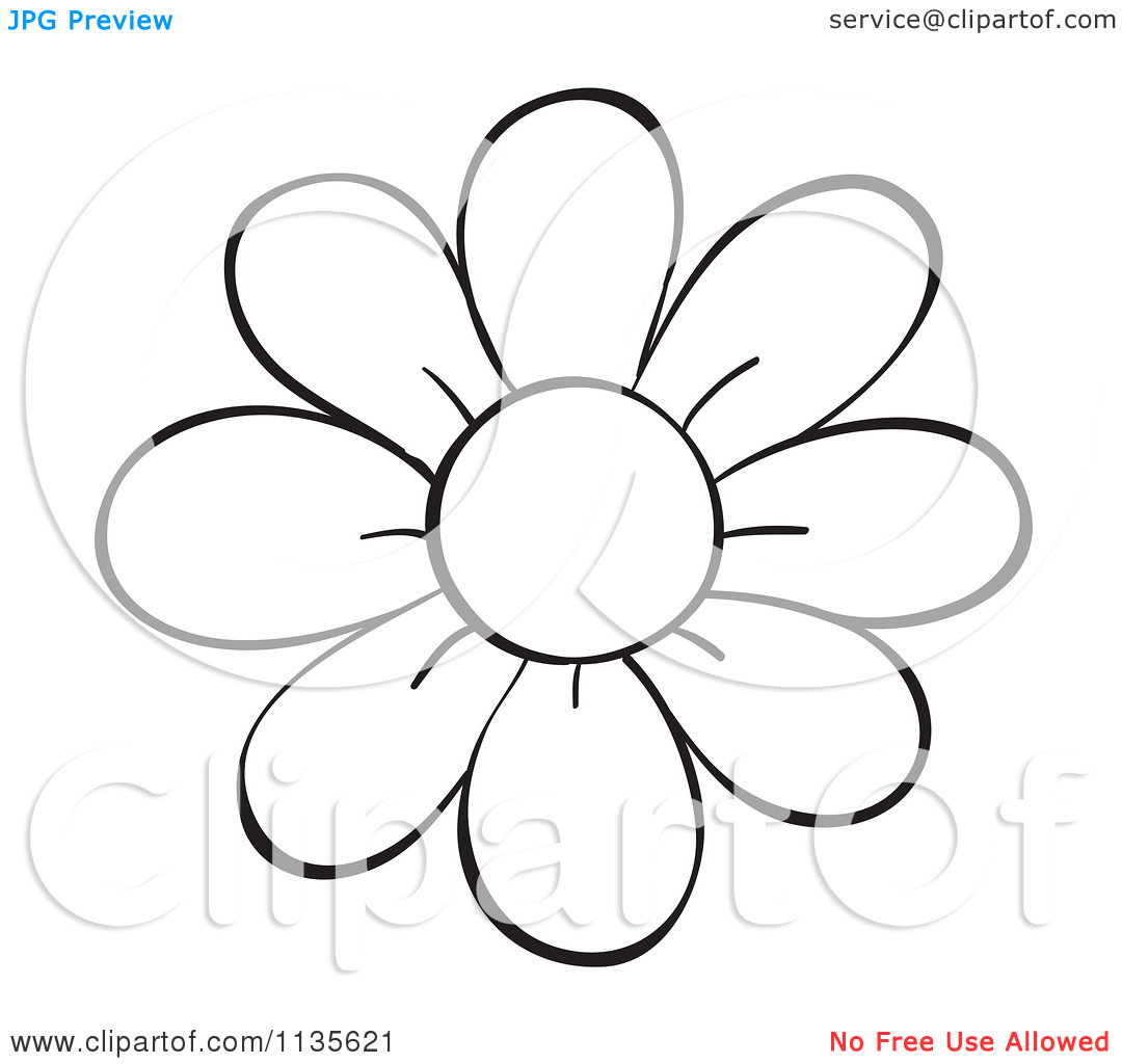Flower Stem Clipart Black And White Cartoon Of A Black And White