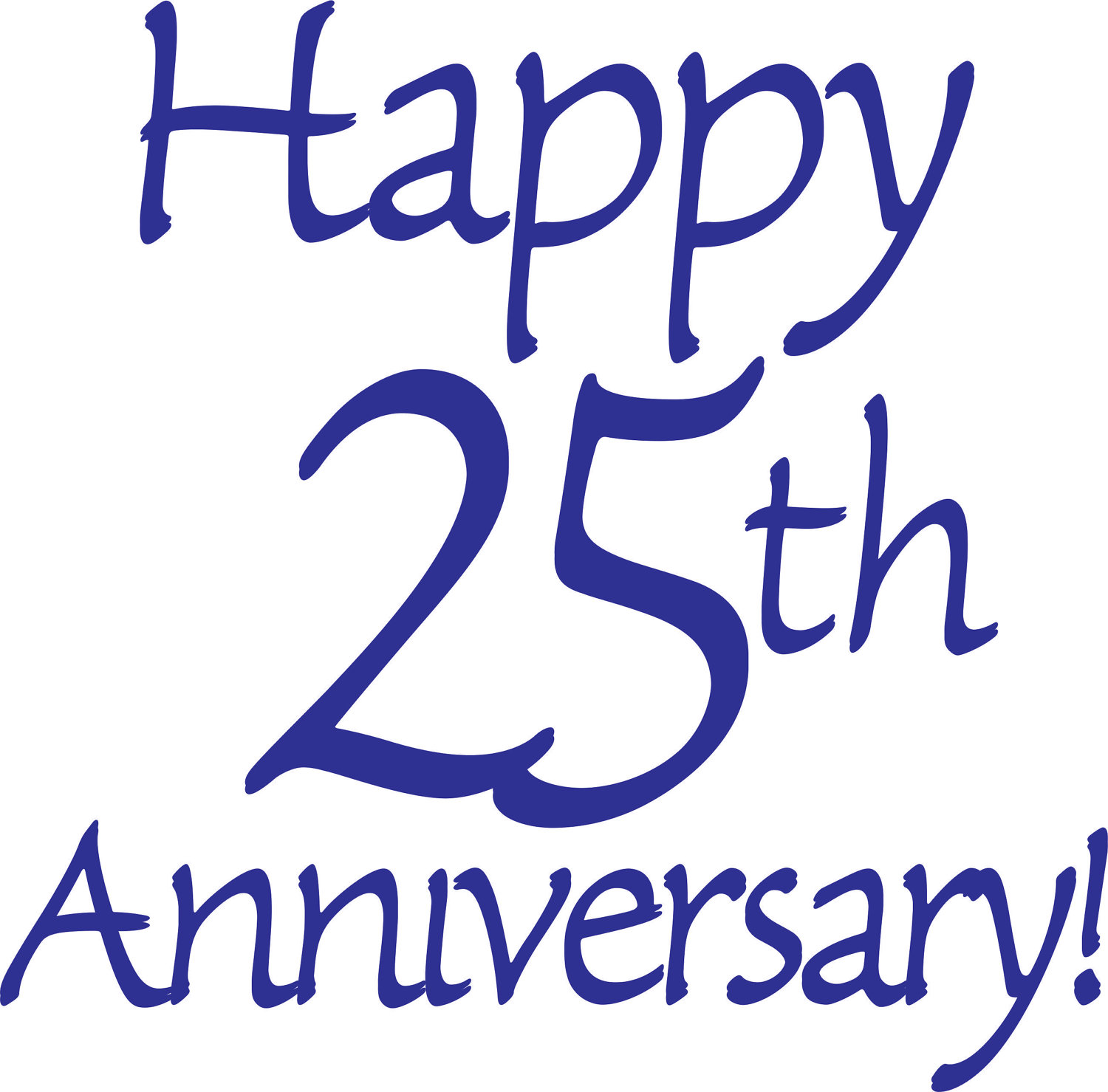 Happy 25th Wedding Anniversary Clip Art Happy 25th Anniversary Cards
