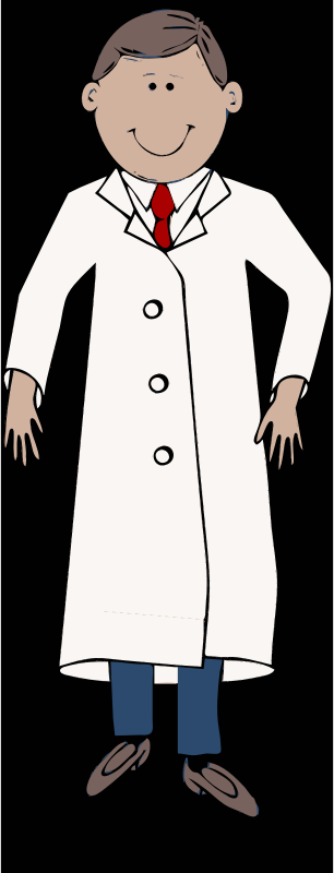 Lab Coat Worn By Scientist With Red Tie By Barnheartowl   A Scientist