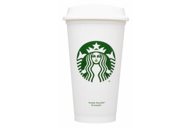 Photo Provided By Starbucks Corp  Shows A Reusable Cup  Starbucks