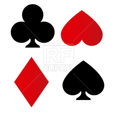 Playing Card Suit Symbols Download Royalty Free Vector Clipart  Eps