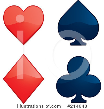 Playing Card Symbols Clip Art