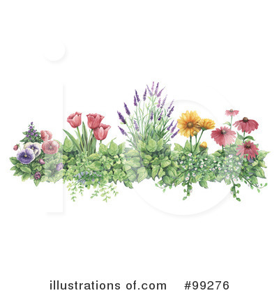 Royalty Free  Rf  Flowers Clipart Illustration By Gina Jane   Stock