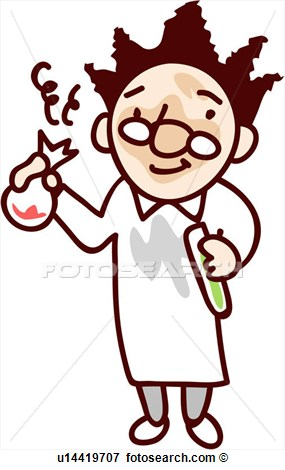 Scientist Flask Holding Lab Coat Human U14419707   Search Clipart