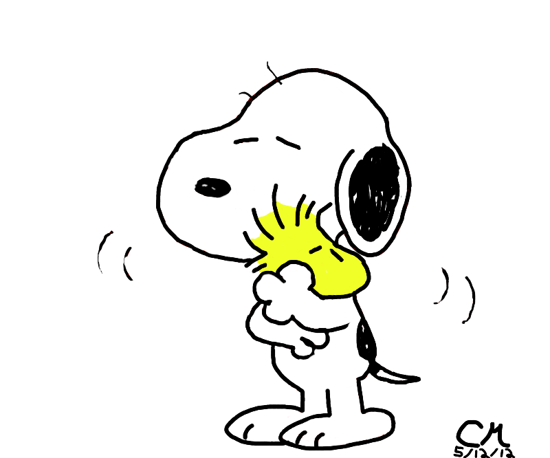 Snoopy And Woodstock Huggin It Out By Chuzzlewolf On Deviantart