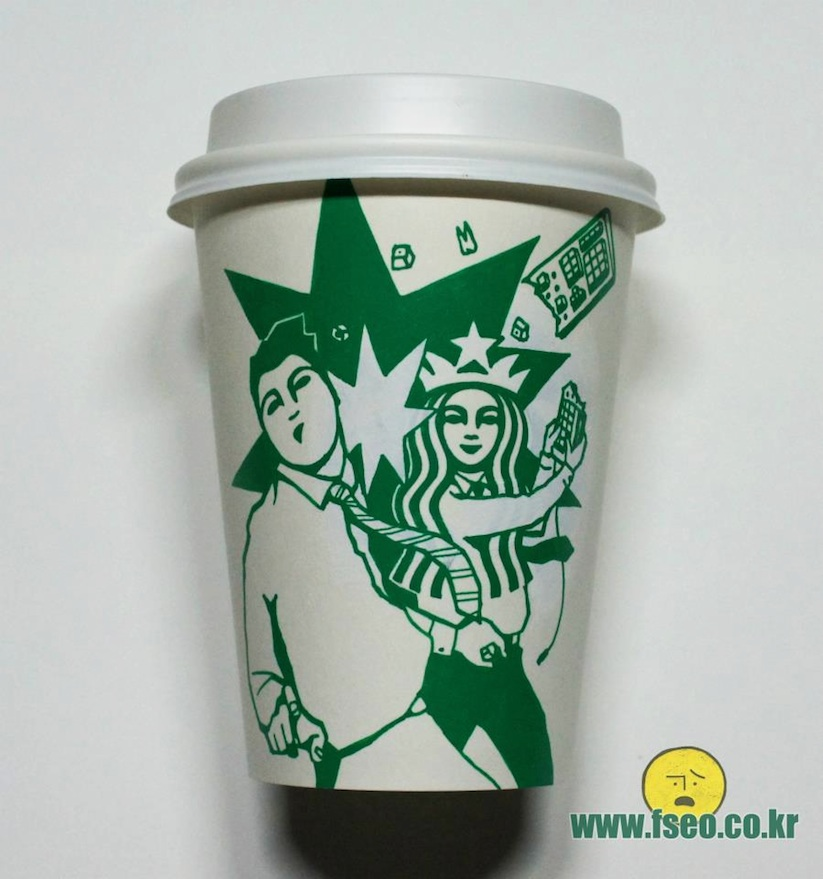 Starbucks Cup Art By Seoul Based Illustrator Soo Min Kim 15