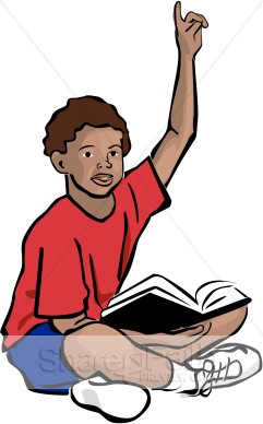 African American Youth With Bible   Sunday School Clipart