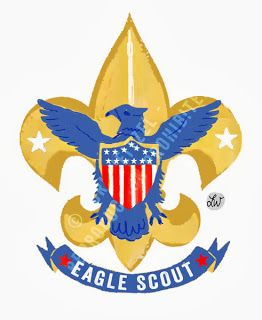 Boy Scouts Of America   Eagle Scout Logo   Tennessee Illustrator