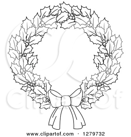 Wreath Clipart Black&white| (44)++