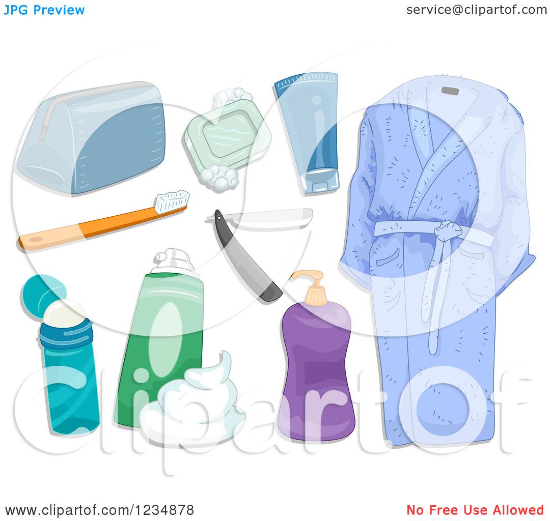 Travel Toiletries Clipart - Clipart Kid