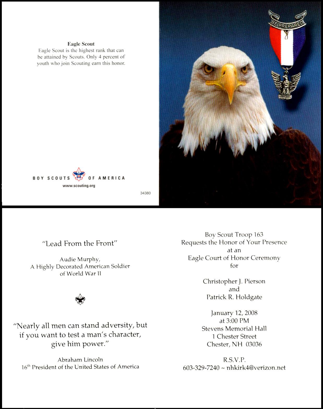 Invitation Eagle Scout Clipart - Clipart Suggest