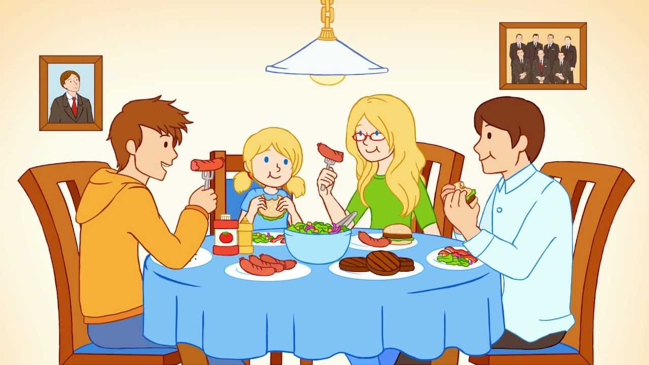 Showing Gallery For Family Eating Together Animated