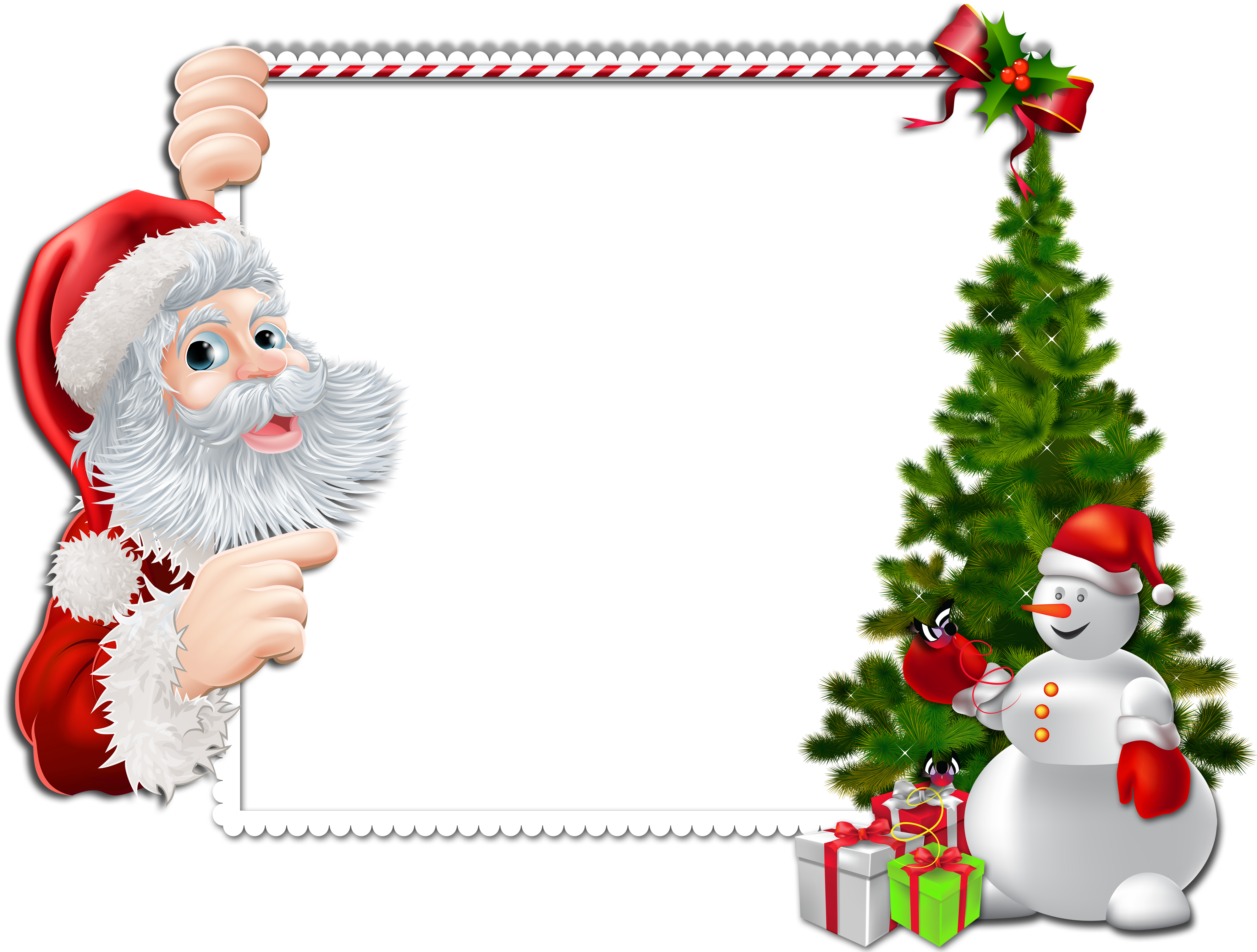 Christmas Frame Clipart - Clipart Kid