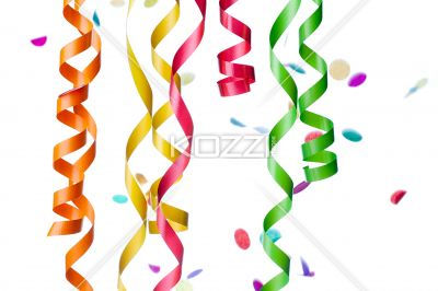 Streamers And Confetti Decorations    Royalty Free Image Id 24734286