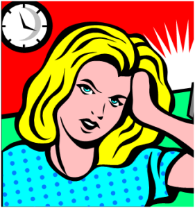 Stressed Out Woman Clip Art